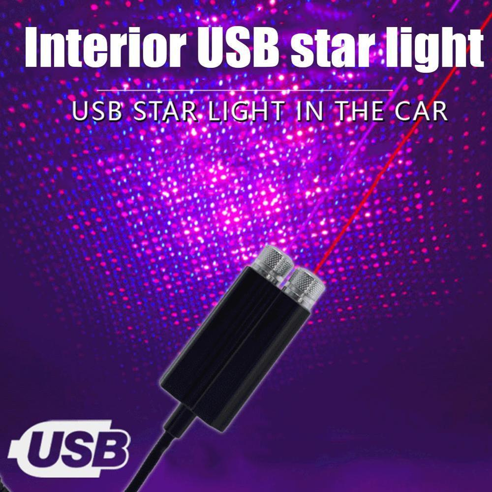 USB сцена свет автомобиль крыша звезда свет интерьер звездное атмосфера окружающий дискотека лазер проектор дом галактика декор украшение лампа