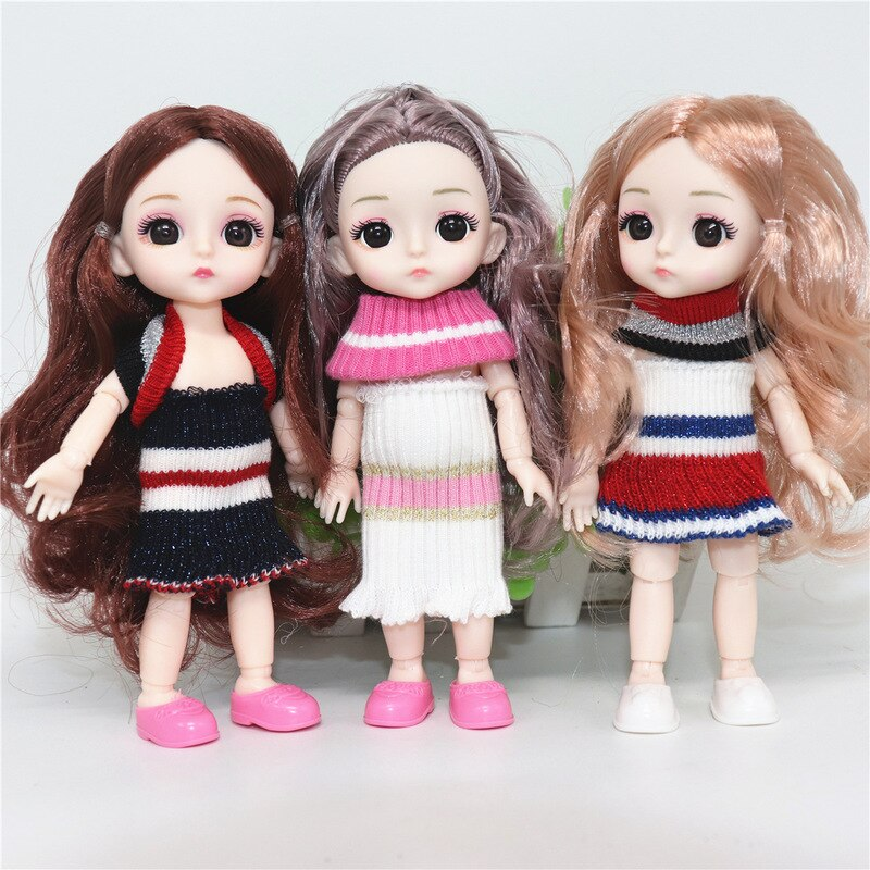 Bjd Doll Clothes High-end Dress Up A Variety of Styles Can Be Dressed Up 16CM Fashion Doll Clothes Children DIY Girl Toy Gift  - buy with discount