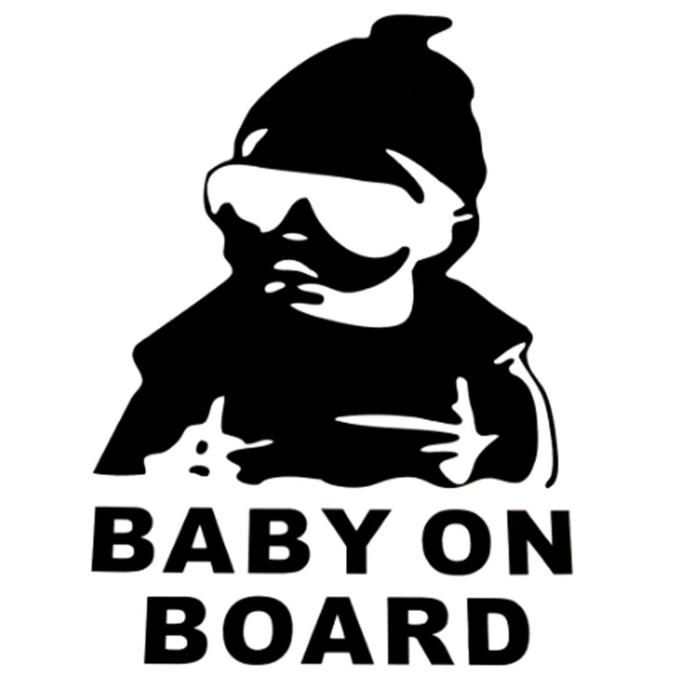 Baby Hat Sunglasses Car Sticker Window Reflective Sheeting 3D Car Windshield Decal Outside Styling A