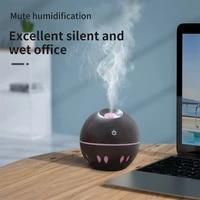 ELOOLE     humidificateur dair Portable  Grain de bois  USB  ultrasonique  diffuseur dhuile essentielle  darome  avec lumieres colorees  pour voiture  maison