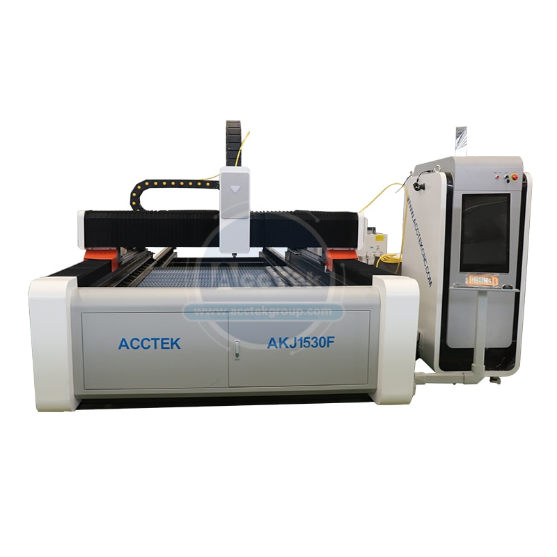 Máquina a laser de fibra/máquina de corte a laser chapa metálica/placa/placa 1000w 2000w cortador a laser akj1530f