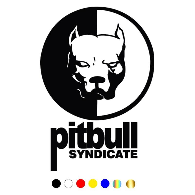 CS-086#21,5*15см Pitbull syndicate водонепроницаемые наклейки на авто наклейки на машину наклейка для авто автонаклейка стикер