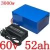 60V 2000W 3000W סוללה 60V 50AH ליתיום סוללות 60V 50AH חשמלי אופני סוללה עם 60A BMS ו 67.2V מטען החובה משלוח