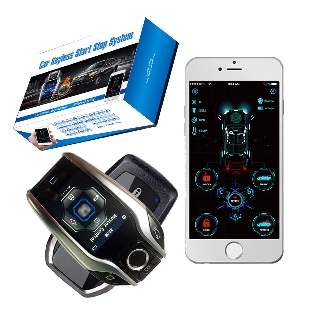 Cardot LCD Keyless Entry System Pke Unlock Lock Liquid Crystal Start Stop Remote Open Trunk Finding Car Ignition System