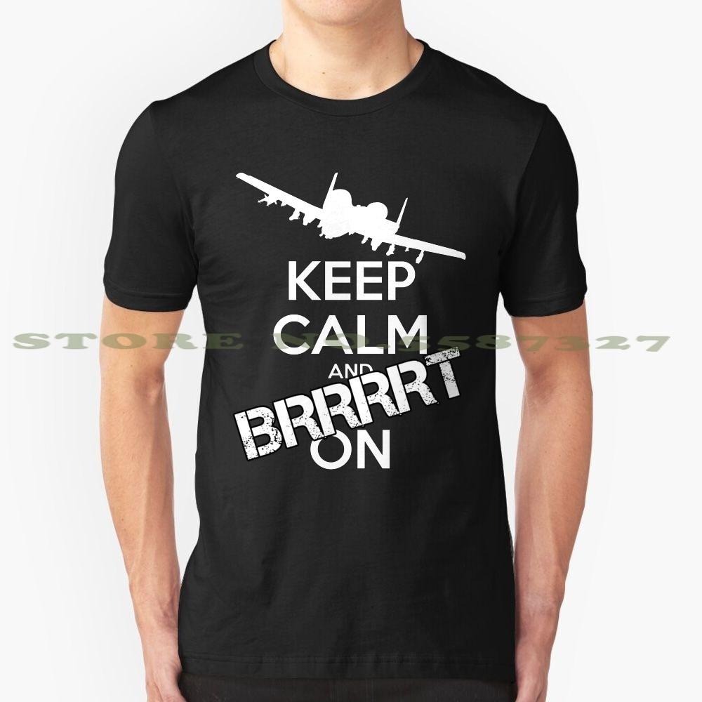¡Mantenga la calma y Brrrrt On! Camiseta divertida de verano para hombres y mujeres A10 A 10 Warthog A10 Warthog A 10 Warthog Warthogs Military