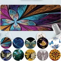 mouse pad large gaming gamer table mat anti slip waterproof pu leather computerlaptop butterfly pattern large mouse mat