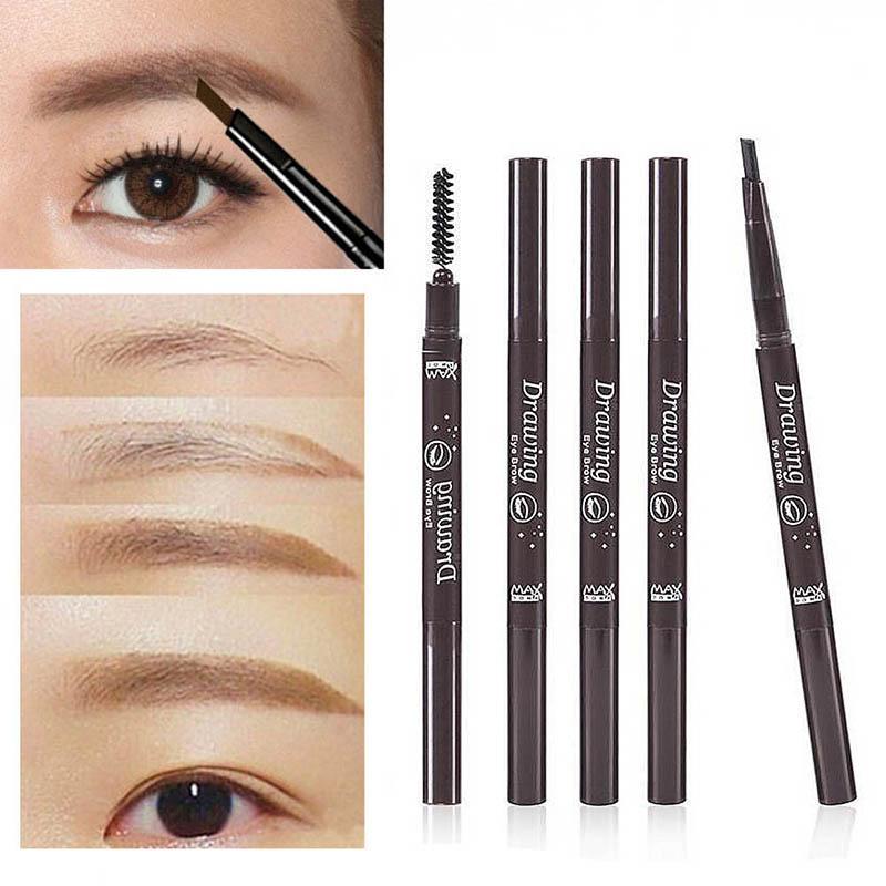 Стойкая коричневая Автоматическая водостойкая косметика для глаз, 5 цветов, макияж для бровей, косметика для женщин, косметика для глаз TSLM1 недорого