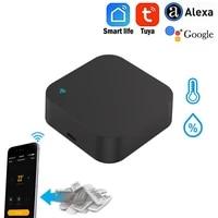 Tuya Smart Life     telecommande WiFi IR avec capteur de temperature et dhumidite  commande vocale avec Alexa et Google home