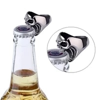 punk dual purpose skull ring for men open beer and self defense finger tiger party club emo bottle opener ring jewelry anillos