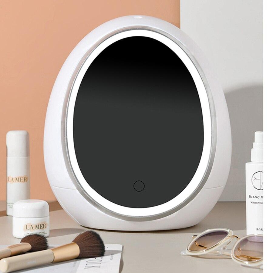 Cosmetic Design Storage Box White Minimalist Lipstick Vanity Organizer Perfume Skincare Desktop Rangement Room Organizer HX50ST
