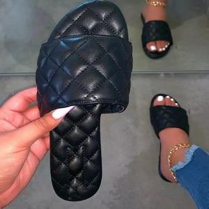 New Designer Women Sandals America Style Summer Shoes For Women Flat Sandals Rubber Shoes 2020 Leather Slides Plus Size Soulier