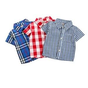 От 1 до 4 лет, Детская рубашка в клетку для мальчиков и девочек универсальные классические рубашки в клетку с лацканами топы с карманами, Повс...