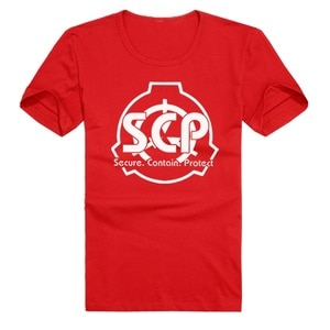 Anime SCP Special Containment Procedures Foundation Cotton Casual T-Shirt Tee Shirt Lovers Comfortable T-Shirt Tee Shirt
