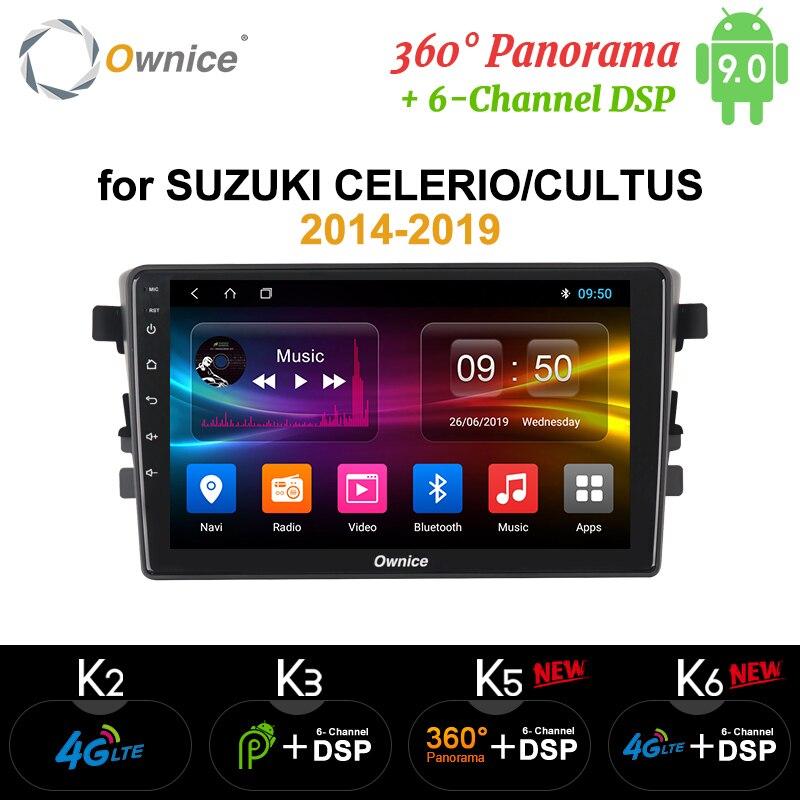 Ownice K3 K5 K6 Android 9.0 360 Panorama Optical Car Radio for SUZUKI Alto Celerio Cultus 2015 2016 2019 Octa Core 4G DSP dvd