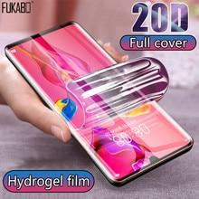Гидрогелевая пленка для Huawei P30 Pro, P20 Lite, полное покрытие 20D, защитное покрытие для экрана смартфона Y5, Y6, Y7, P, Honor 20 Pro, Nova 5T, не стекло, 2019