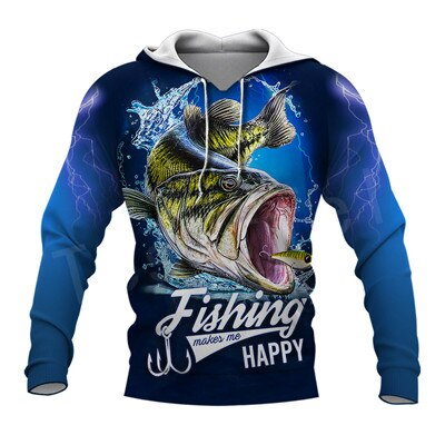 Tessffel New Fashion Animal Fishing Art Harajuku casual Tracksuit Funny 3D Print Hoodie/Sweatshirt/Jacket/Mens Womens s-4