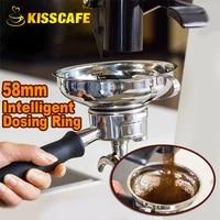 ek43 grinder intelligent dosing ring for brewing bowl coffee powder for espresso barista tool stainless steel 58mm portafilter