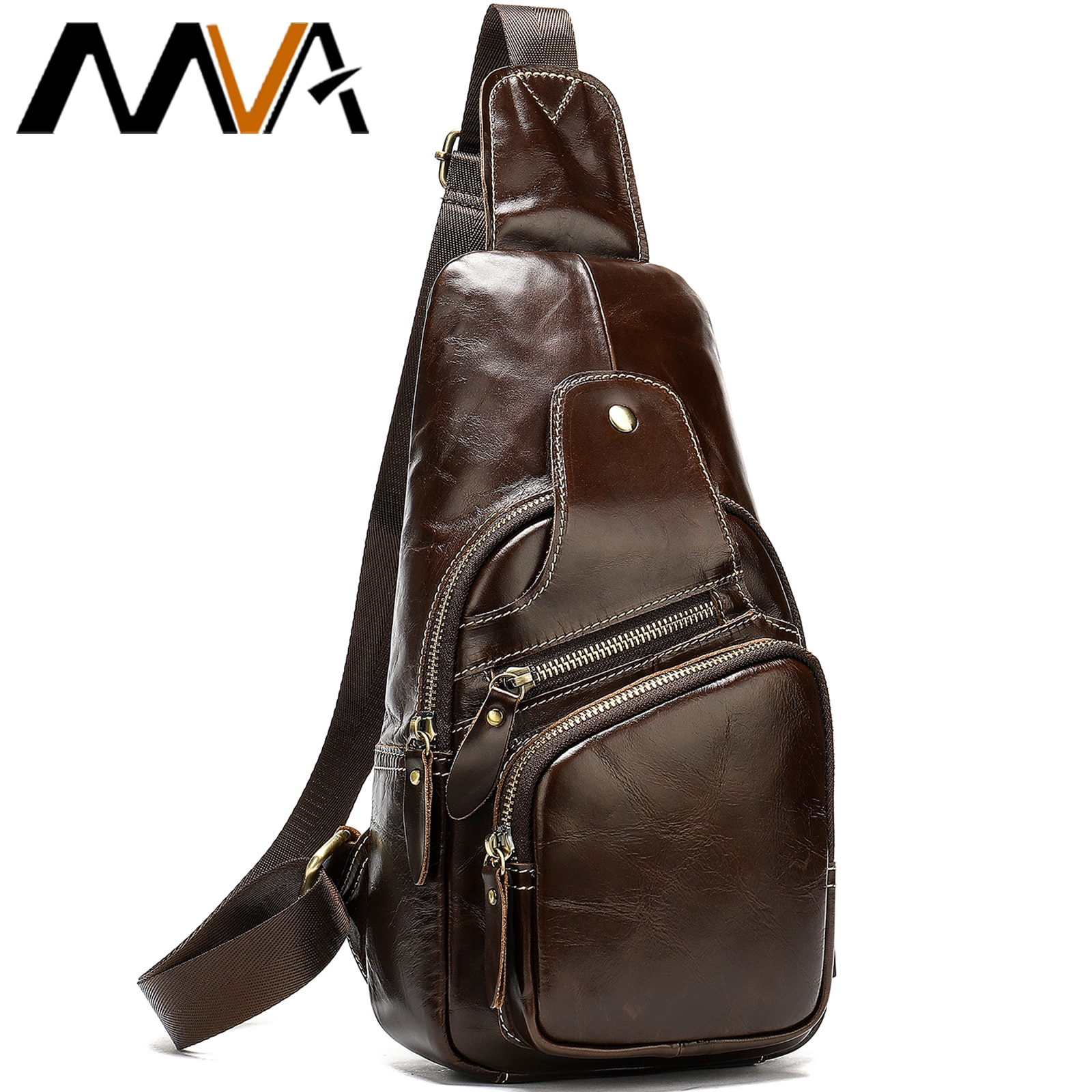 MVA Breast Package Men's Sling Bags USB Charging Men Bags Shoulder Crossbody Chest Pack Anti Theft Fashion Chest Bags For Male