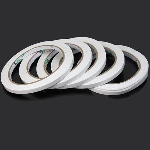 Cinta adhesiva de doble cara superfuerte blanca de 18M, cinta adhesiva de algodón ultrafina resistente de doble cara, 5 uds. De washi tap