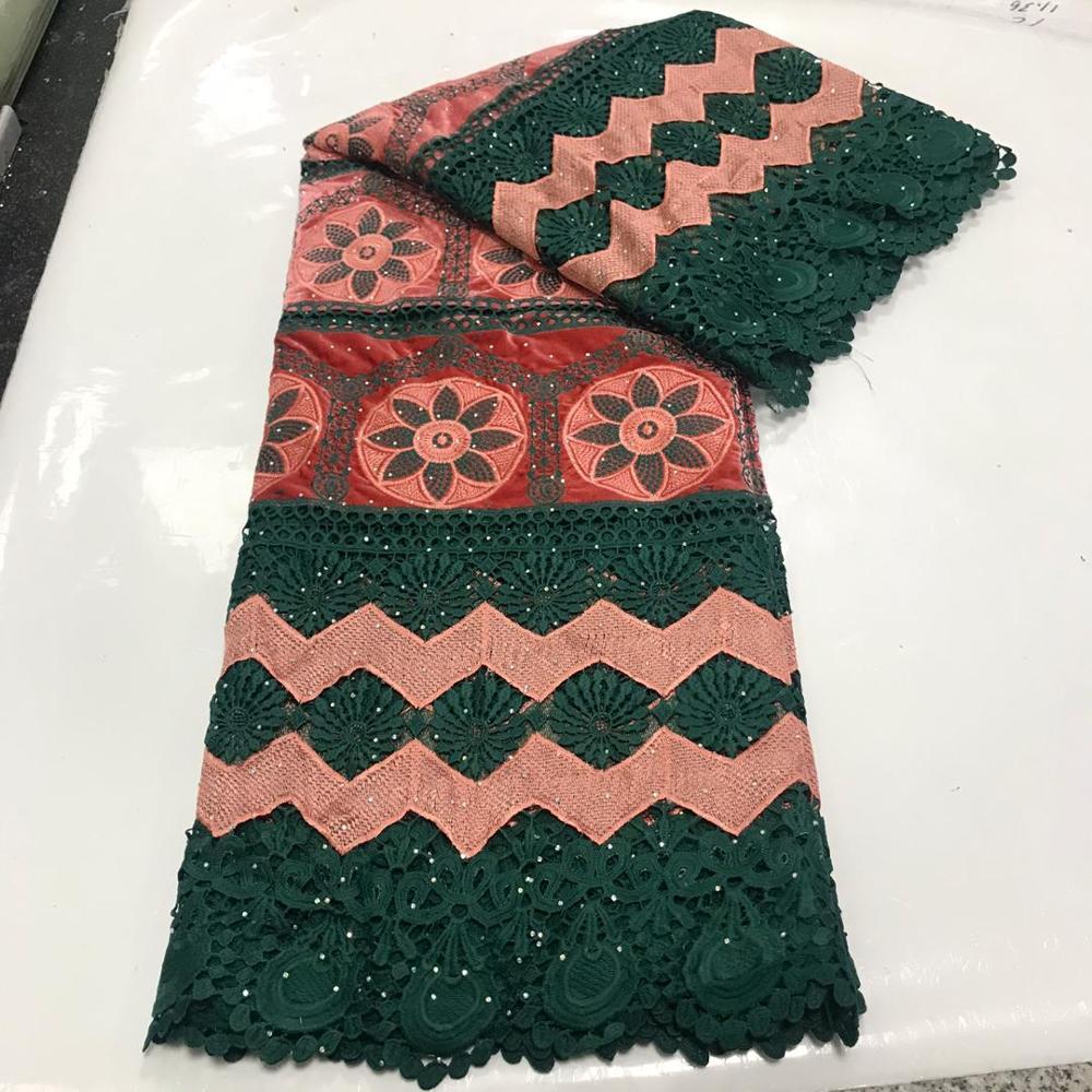 5Yards 2020 Neue Design Baumwolle Spitze Schweizer Voile Spitze in Schweiz Nigerian Flanell Spitze Stoff Afrikanische Schnur Spitze Hochzeit Kleid