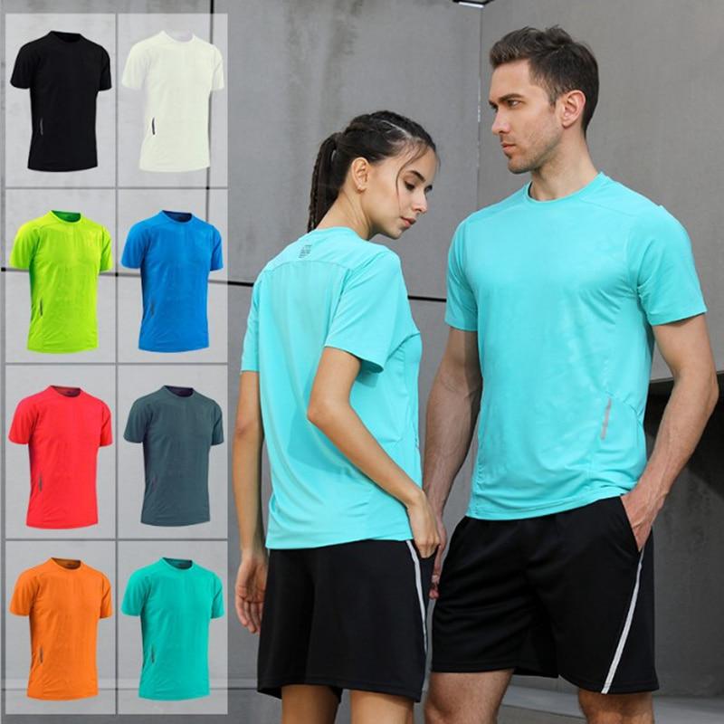 Customize Shirt Running Men Women Kids Quick Dry T-Shirts Running Slim Fit Tops Tees Sport Fitness Gym T Shirts Muscle Tee