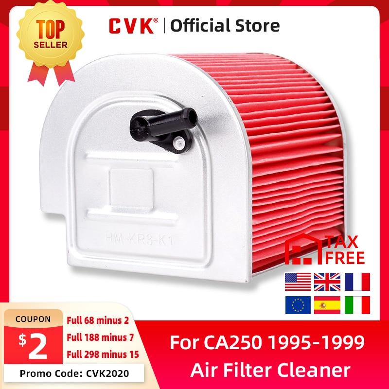 Elemento novo de alta qualidade do líquido de limpeza do filtro de ar da entrada de cvk para honda ca250 cmx250 1996-2011 ca125 1995-1999 cmx250c 2003-2011 dd250