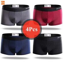 Xiaomi Mijia boxer hommes sous-vêtements hommes sous-vêtements Modal hommes culottes shorts sous-vêtements boxer shorts quatre saisons portable 4 pièces