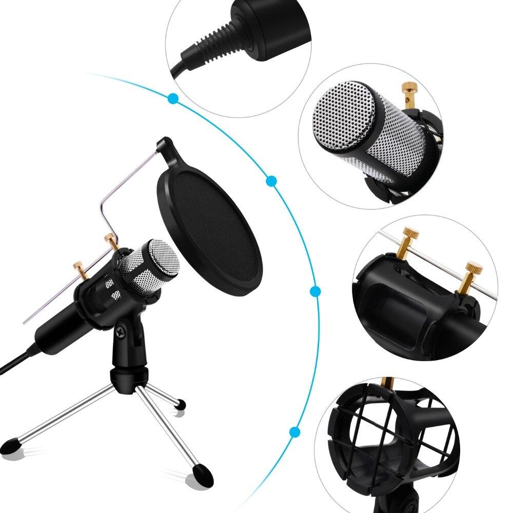 Profissional Microfone Condensador Computador Conferência Voz Ps4 Jogo Dedicado Mic Usb