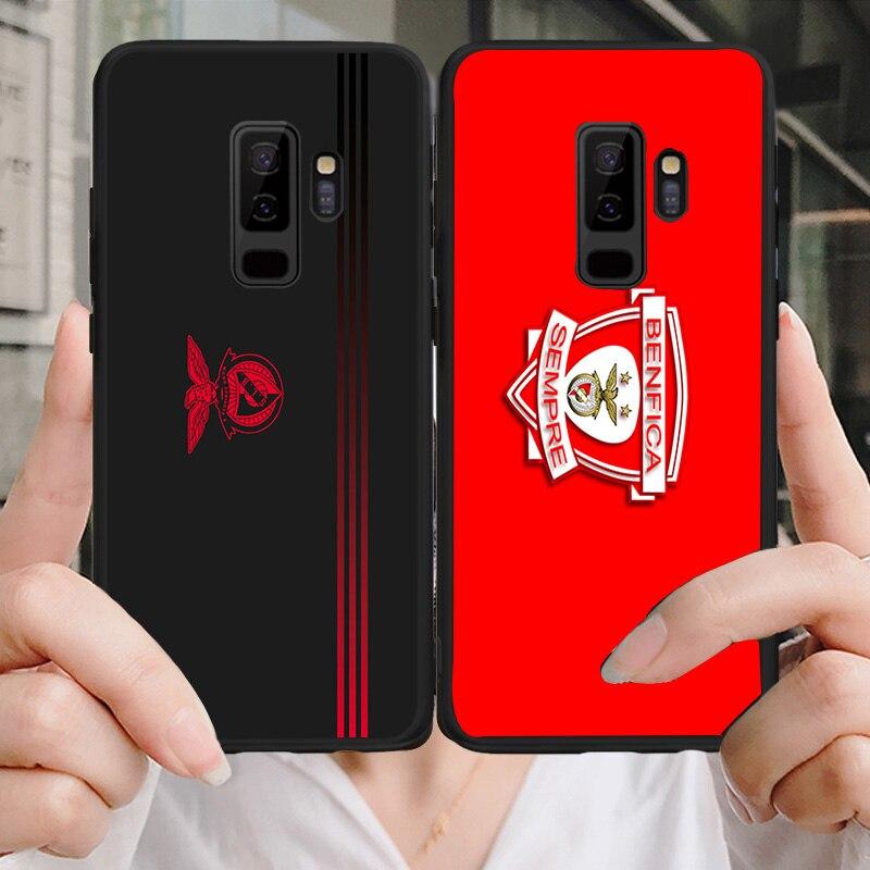 Funda de teléfono para Benfica FC, funda para Samsung Galaxy S10 S8 S7 Edge DIY, TPU suave negro para A9 C10 C9 J7 Max Note 8 Note 9 S8 S10E