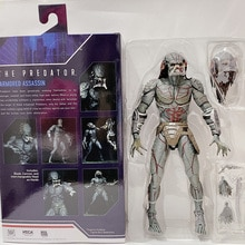 10inch 25cm NECA Armored Assassin Predator Ultimate Predator Unmasked Action Figure  Model Toy