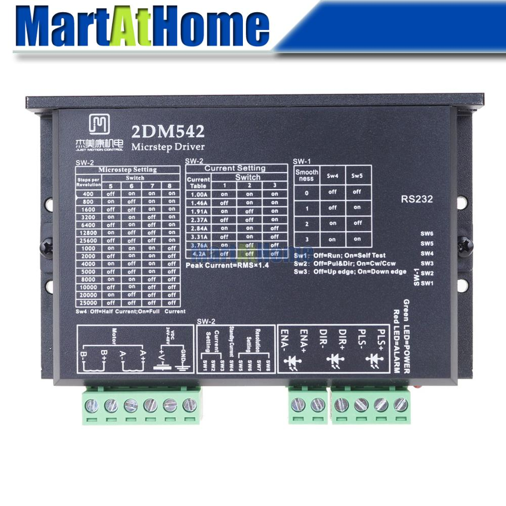 2-phase الهجين الرقمية السائر سائق 2DM542-C 2DM542-N تيار مستمر 24 فولت-48 فولت 200K PUL/der CW/CCW ل NEMA 17 23 محرك متدرج لتقوم بها بنفسك التصنيع باستخدام الحاسب الآل...