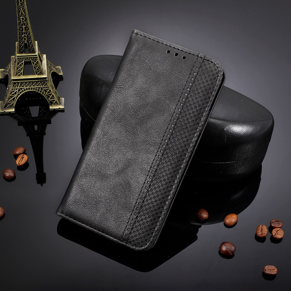 Para Galaxy A21 SM-A215F Funda de cuero PU cartera soporte Flip funda para Samsung Galaxy A21S SM-A217F/DS