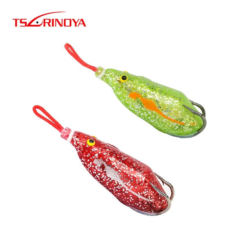 TSURINOYA cebo de ratón 63mm 14g superior agua Rana Ray pesca de pez cabeza de serpiente señuelo Isca ojos artificiales 3D mar natación cebo aparejos de pesca