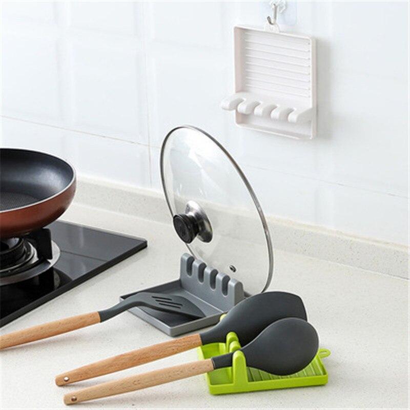 1PCS Kitchen Accessories Spatula Holder Put The Spatula Rack Chopsticks Spoon Pad Kitchen Accessories Kitchen Gadgets Tools