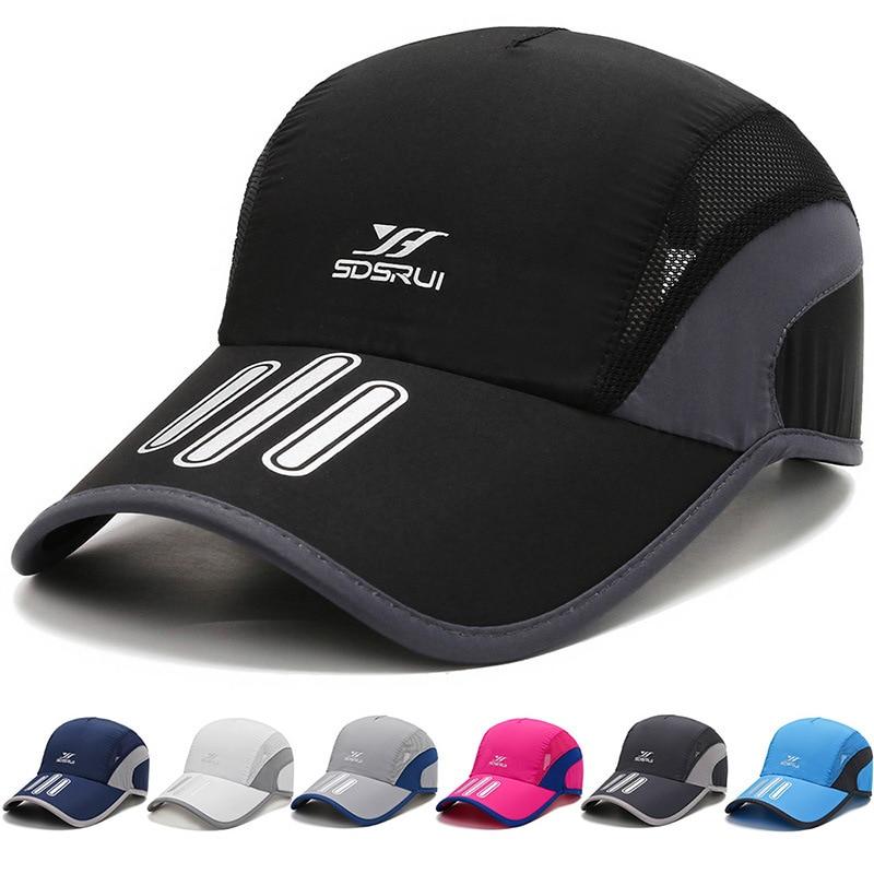 Gorra deportiva de secado rápido para hombre, con cierre trasero y malla para escalar, transpirable y ligero, gorra de béisbol y tenis para hombre