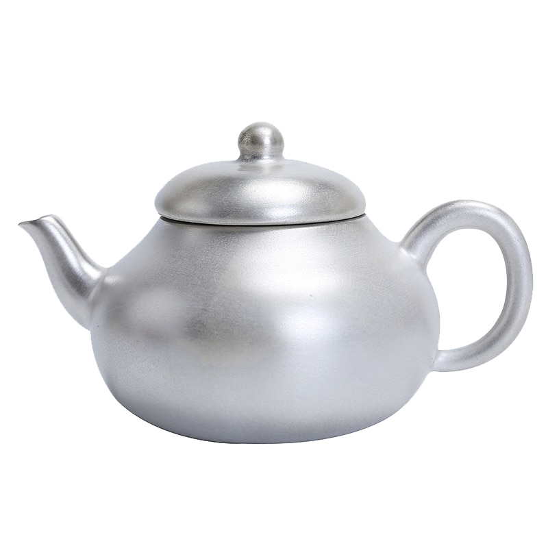 Pote de prata artesanal xishi pote casa pequeno bule de prata 999 prata esterlina clássico kung fu chá conjunto