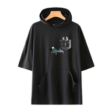 River Valley Town Mens T Shirt 2019 Summer Slim Fitness Hooded Short-Sleeved Tees T-Shirt Slim Tshirt Homme 4XL