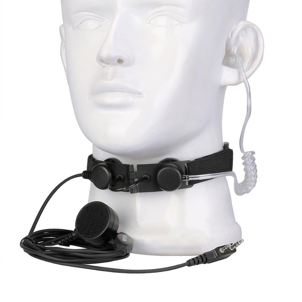 New ETK003 2 Pin Throat Control Laryngeal Shock Headset with Finger PTT -  Outdoors Walkie Talkie Radio Headsets enlarge
