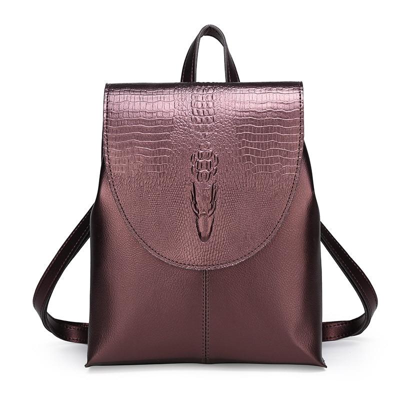 2020 mochila femenina clásica moda Corea Casual mujeres PU cuero Back pack Cross mochilas escolares de hombro
