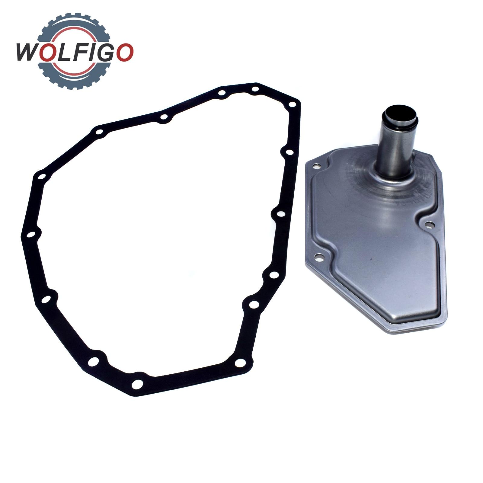 WOLFIGO RE0F11A JF015E Oil Filter and Pan Gasket for Nissan Mitsubishi Suzuki 33010-JF015 31728-3JX0C 31728-3XX0B 31397-3JX0A