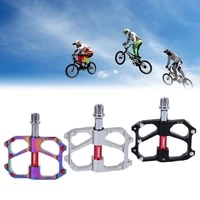 1 pair mountain road bike pedals colorful 3 palin cnc aluminum riding pedals tp 30 ultra light non slip bicycle pedals