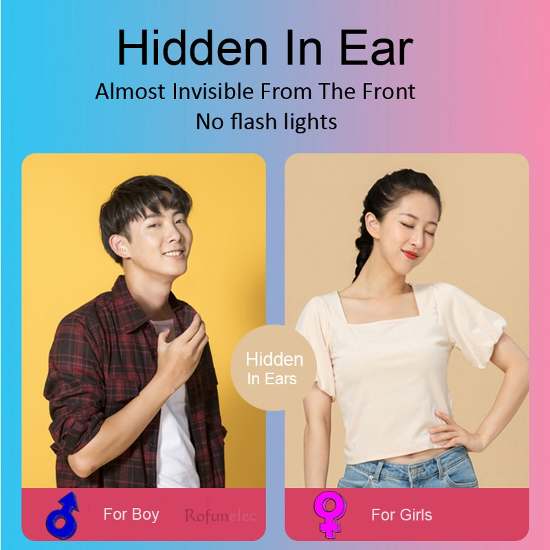 Invisible Earphones Bluetooth-compatible Wireless Sleeping Earbud Hidden Head Phone Type C Mini Earpiece With Mic For Small Ears enlarge