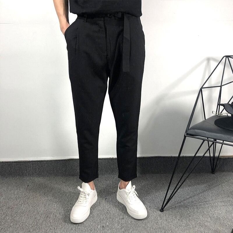 Owen Seak Men Casual Pants high Street Wear Ankle Length Pants Men's Clothing Sweatpants Spring Harem Black Pants