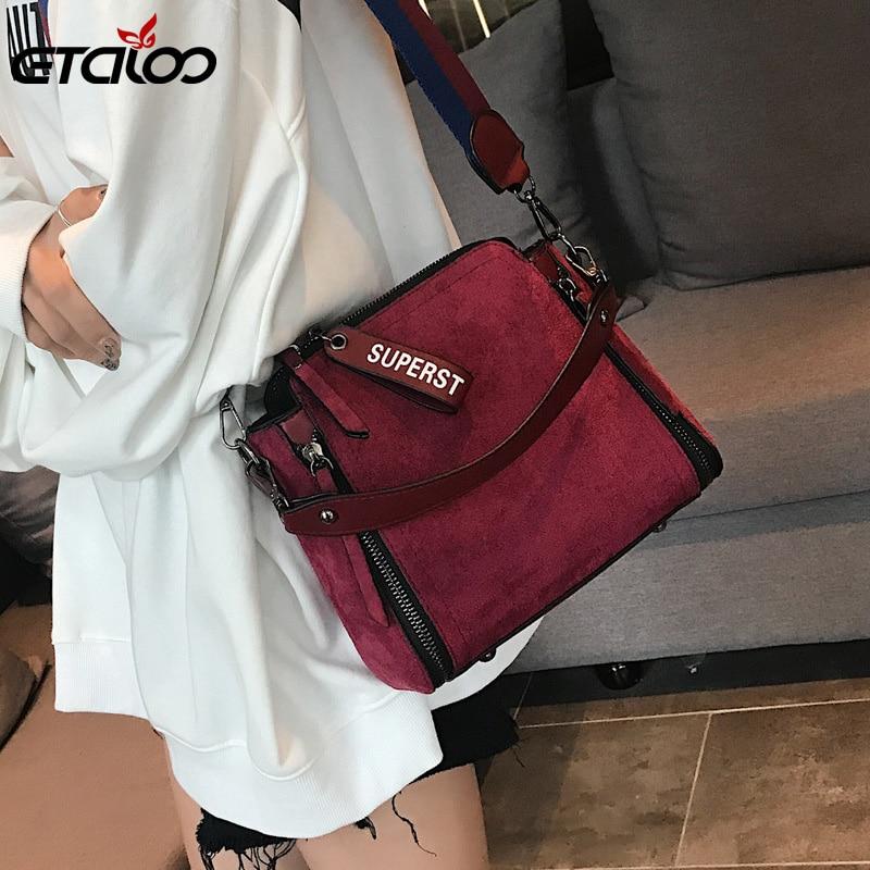 Women Messenger Bags Shoulder Vintage Bag Ladies Crossbody Bag Handbag Female Tote Leather Clutch Female Women's Bag