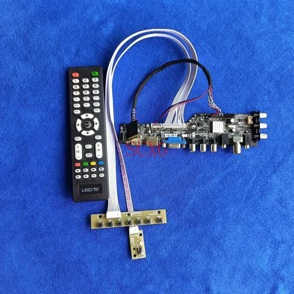 1280*800 صالح LTN121AT06/LTN121AT11 عدة إشارة رقمية 40 دبوس LVDS LCD شاشة LED لوحة تحكم DVB AV VGA USB HDMI متوافق