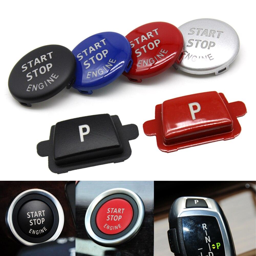 Engine Ignition Start Stop Button Gear Shift Lever Auto Parking P Switch Cap For BMW X5 X6 E70 E71 E72