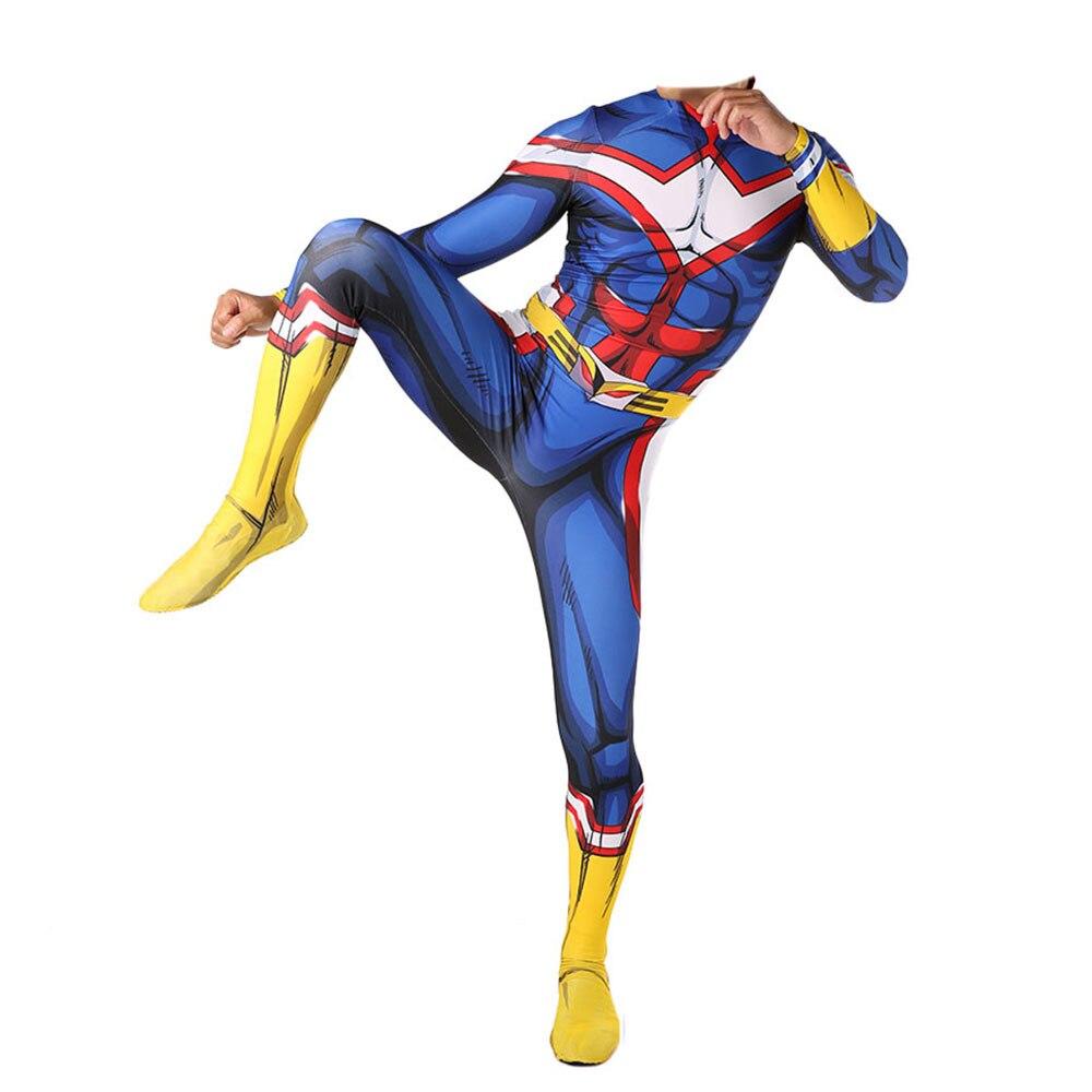 Mein Hero Wissenschaft Alle Könnte Cosplay Kostüm 3D Spandex Zentai Bodysuit Anzug Overalls Halloween Für Erwachsene Kinder
