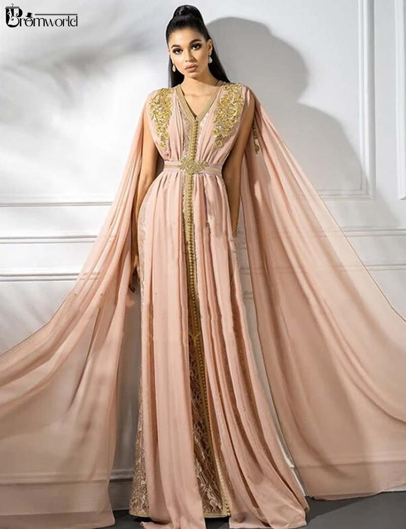 Розовое ТРАПЕЦИЕВИДНОЕ марокканское вечернее платье без рукавов, мусульманское вечернее платье с вышивкой, винтажные вечерние платья, ара...