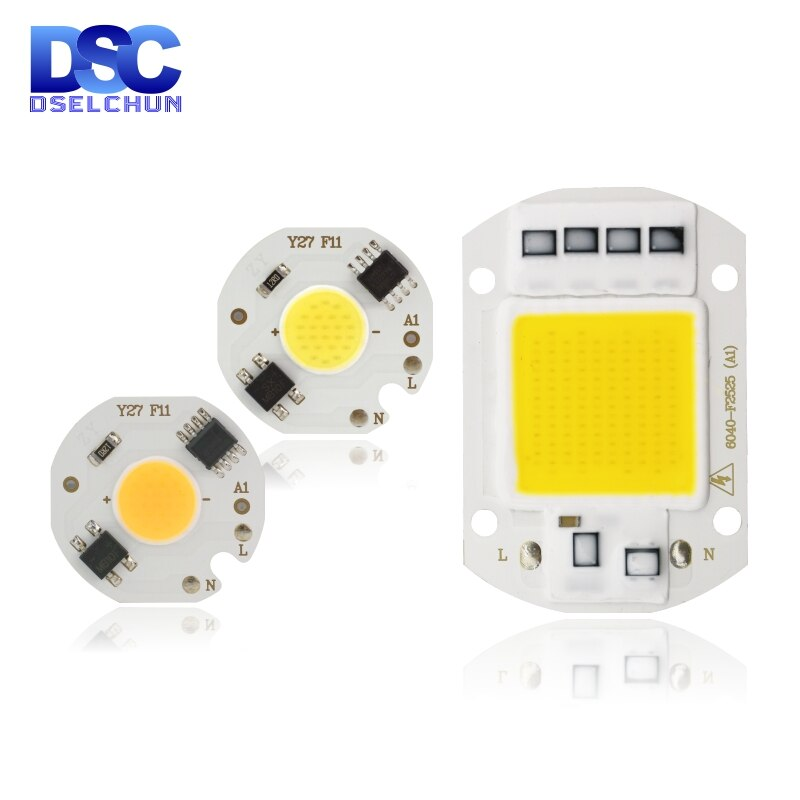 [mingben] 5pcs led cob chip 18w 15w 12w 9w 7w 5w 3w ac 220v smart ic light high lumen chip for bulb diy led spotlight light bead LED COB Chip Lamp 10W 20W 30W 50W 220V Smart IC No Need Driver LED Bulb 3W 5W 7W 9W for Flood Light Spotlight Diy Lighting