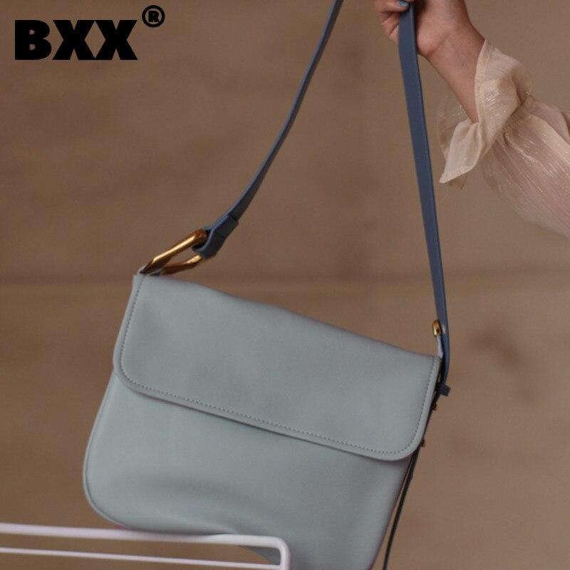 [BXX] Ladies PU Crossbody Bags  2021 Spring Summer Fashion Branded Crossbody Shoulder Hand Bag Lady Trend Handbags HS037